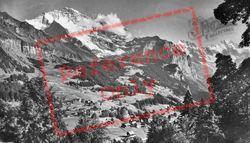 Wengen, Jungfrau And Breithorn c.1930, Lauterbrunnen