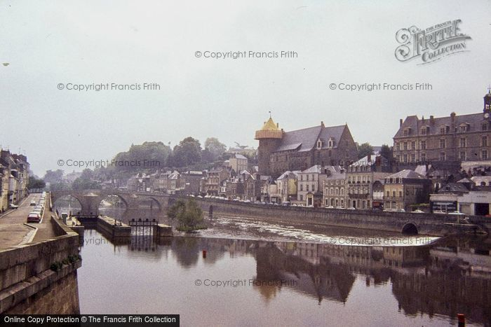 Photo of Laval, The Chateau From Across River Mayenne 1984