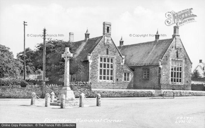 Photo of Lavendon, Memorial Corner c.1955