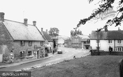 Lavendon, Post Office And Square 1967