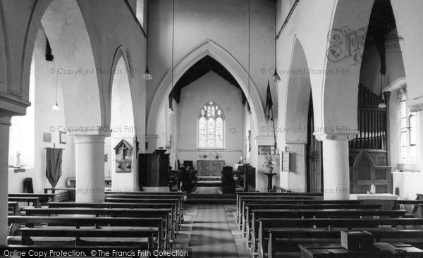 Photo of Lavendon, St Michael's Church, Interior c.1965