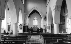 Lavendon, St Michael's Church, Interior c.1965