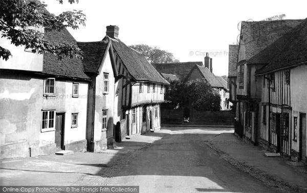 Photo of Lavenham, Lady Street c.1955