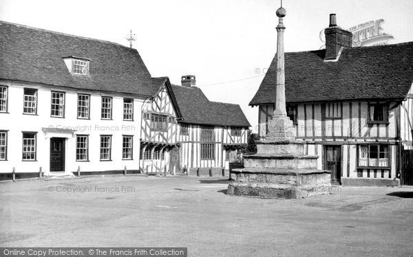 Photo of Lavenham, Market Place c.1955