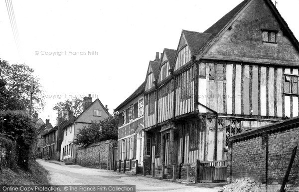 Photo of Lavenham, Shilling Street c.1955