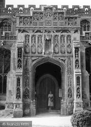 The Church Porch c.1955, Lavenham