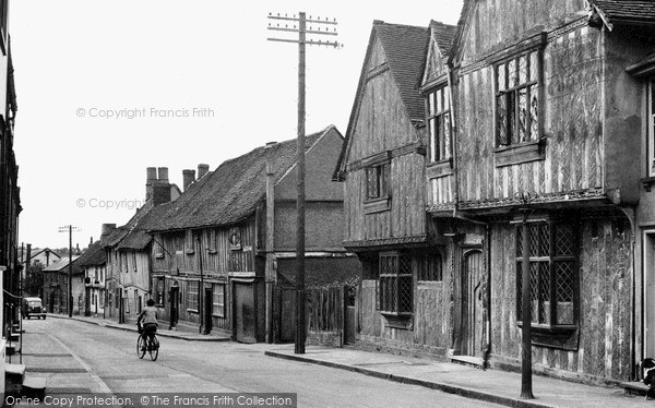 Photo of Lavenham, Water Street c.1955