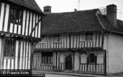 Wool Hall And Arched Shop Windows 1965, Lavenham
