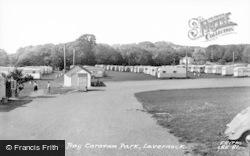 Lavernock, Caravan Park c.1960