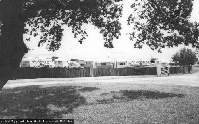 Photo of Lavernock, Entrance To Bay Caravan Park, St Mary's Well Bay c.1965