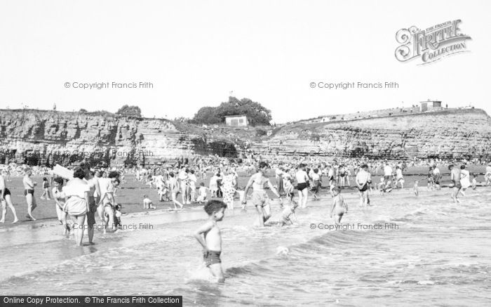Photo of Lavernock, St Mary's Well Bay c.1955