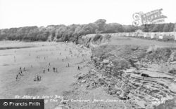 Lavernock, St Mary's Well Bay c.1965