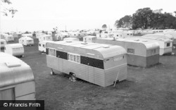 Lavernock, The Bay Caravan Park c.1955