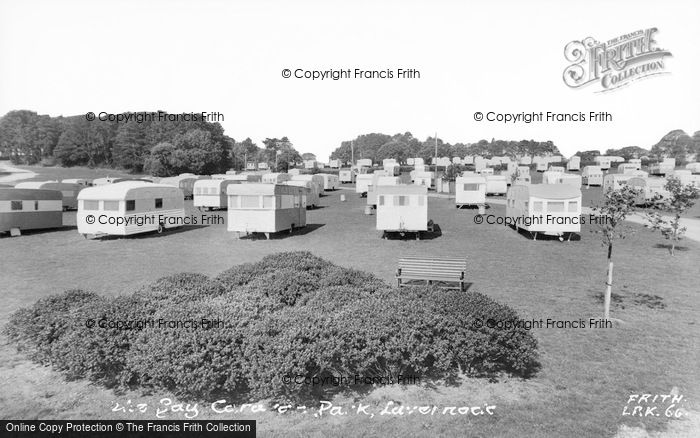 Photo of Lavernock, The Bay Caravan Park c.1960