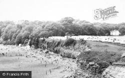 Lavernock, The Bay Caravan Park Overlooking Sandy Beach c.1960