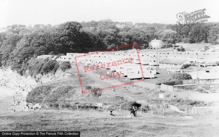 Photo of Lavernock, The Bay Caravan Park, St Mary's Well Bay c.1960