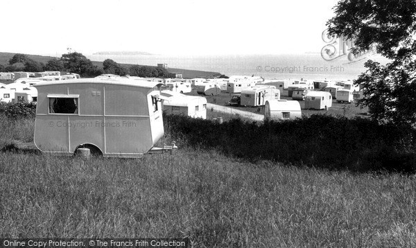 Photo of Lavernock, The Caravan Site c.1955