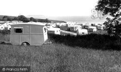 Lavernock, The Caravan Site c.1955