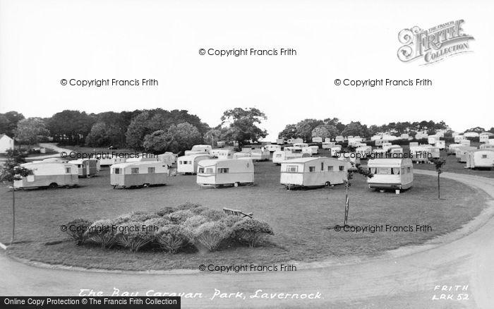 Photo of Lavernock, The Caravan Site c.1960