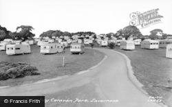 Lavernock, The Caravan Site c.1960
