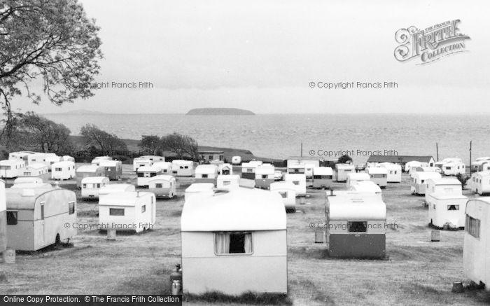 Photo of Lavernock, The Caravan Site Facing South c.1955
