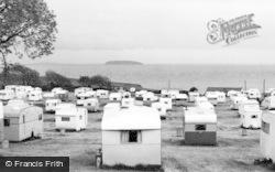 Lavernock, The Caravan Site Facing South c.1955