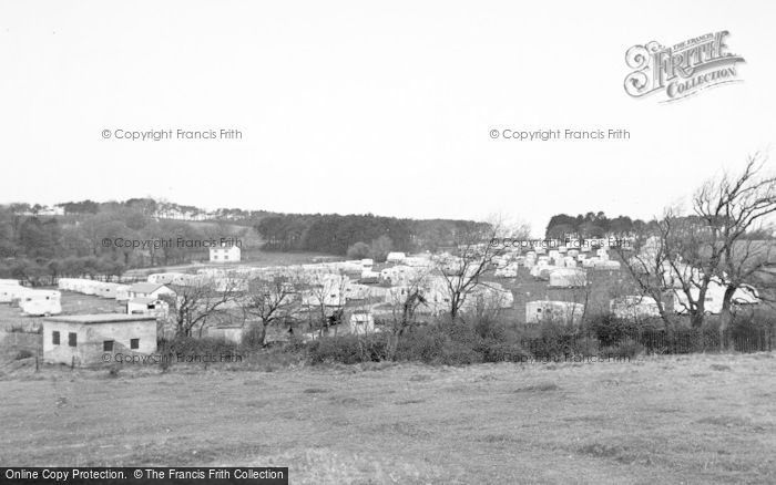 Photo of Lavernock, The Caravan Site, St Mary's Well Bay c.1955
