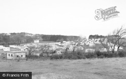 Lavernock, The Caravan Site, St Mary's Well Bay c.1955