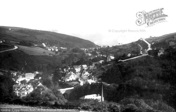 Photo of Laxey, From The Wheel Looking East 1894