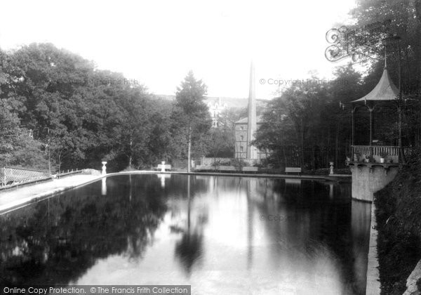 Photo of Laxey, View In Gardens 1894