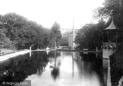 Laxey, View In Gardens 1894