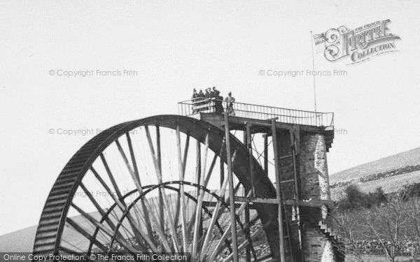 Photo of Laxey, Viewing The Wheel 1896