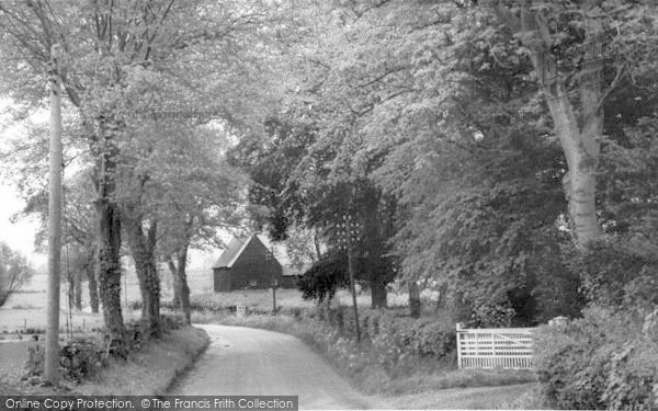 Photo of Laxfield, Barn Road c.1960