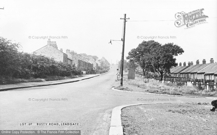 Photo of Leadgate, Busty Road c.1955