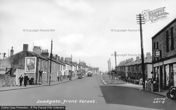 Photo of Leadgate, Front Street c.1955