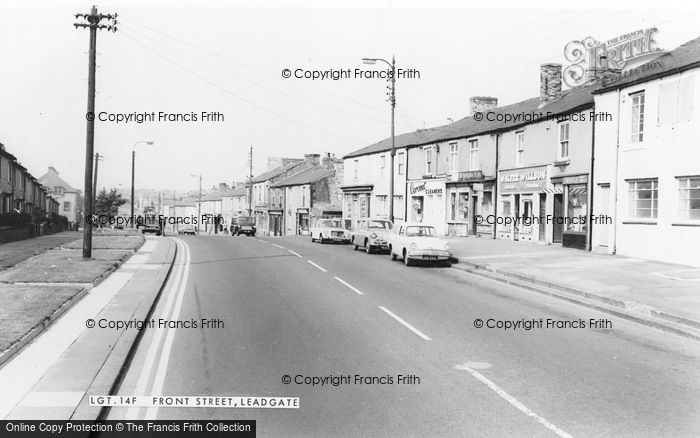 Photo of Leadgate, Front Street c.1960