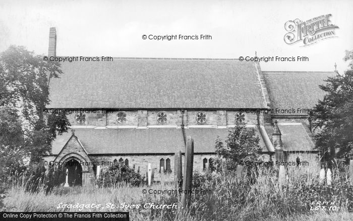 Photo of Leadgate, St Ive's Church c.1955