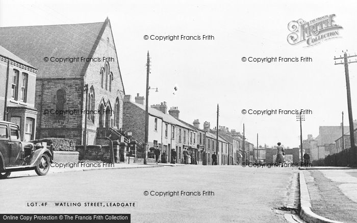 Photo of Leadgate, Watling Street c.1955