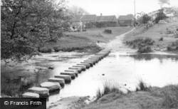 Lealholm, The Stepping Stones c.1960