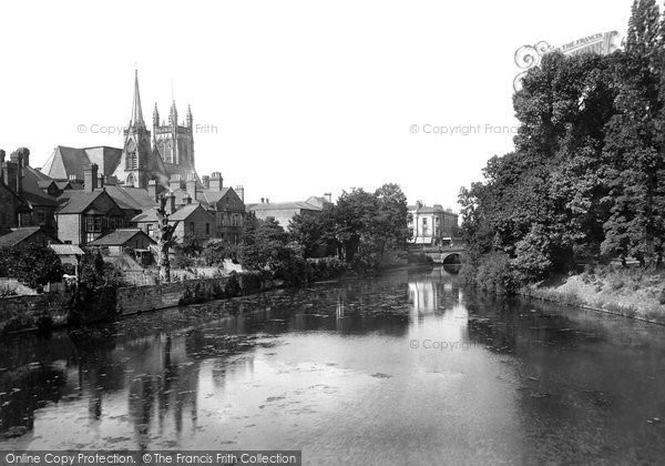 Photo of Leamington Spa, All Saints' Church And The River Leam 1922