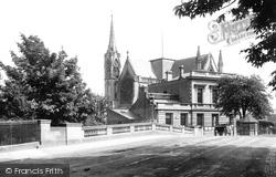 Leamington Spa, All Saints Church From Victoria Bridge 1892