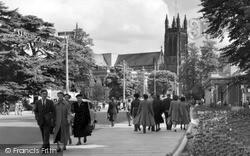 Leamington Spa, All Saints Parish Church c.1955