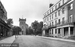 Leamington Spa, Clarendon Hotel And Christ Church 1922