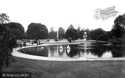 Leamington Spa, Jephson Gardens, The Lake 1922