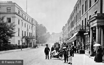 Leamington Spa, Lower Parade and Regent Hotel c1870