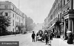 Leamington Spa, Lower Parade And Regent Hotel c.1875