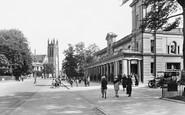 Leamington Spa, Royal Pump Room and Parish Church 1922