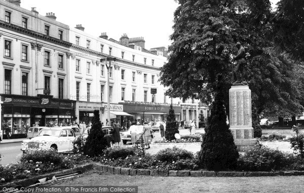 Photo of Leamington Spa, The Parade And Memorial c.1960
