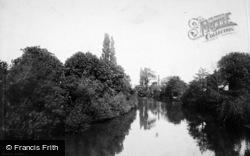Leamington Spa, View From Victoria Bridge 1892