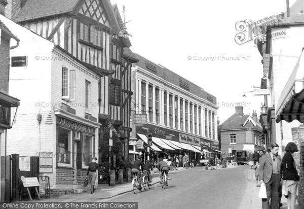 Photo of Leatherhead, Bridge Street c.1955